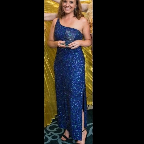 Scala Dresses | Sequined Floor Length Formal Evening Gown | Poshmark
